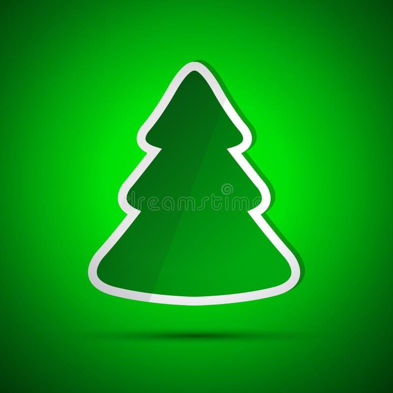 Download Carte De Joyeux Noël Avec L'arbre Vert Simple Illustration de Vecteur - Illustration du célébration, festive: 45358199