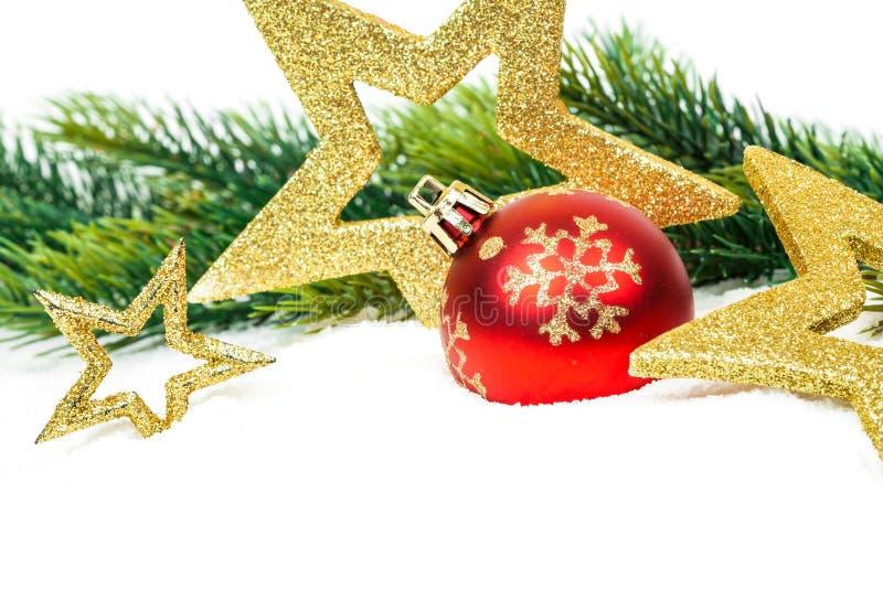 Carte de Joyeux Noël et de bonne année images libres de droits
