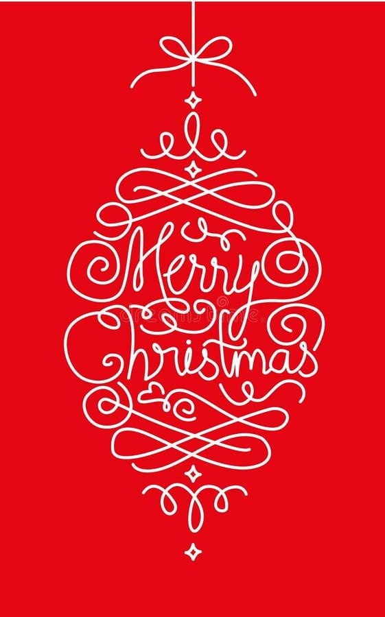 Carte de Joyeux Noël - illustration photographie stock