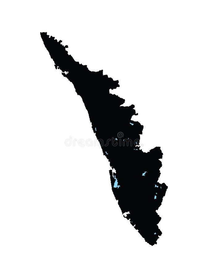 Carte de Karala, province d'état d'Inde illustration de vecteur