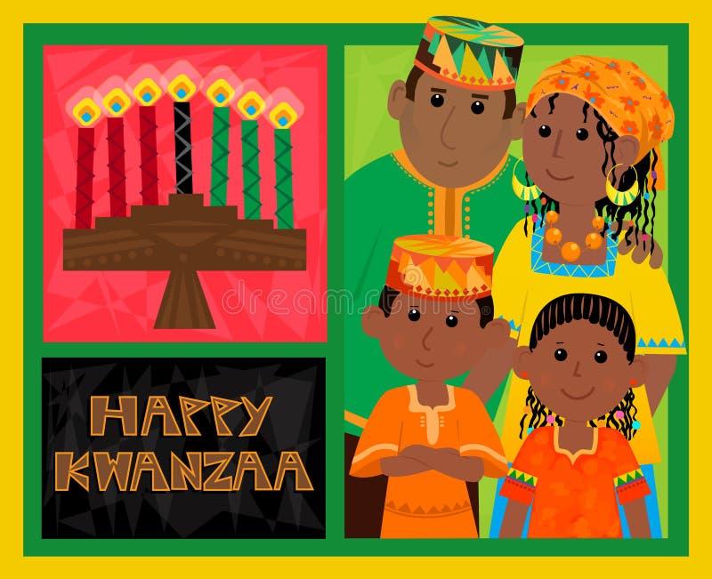 Carte de Kwanzaa illustration de vecteur