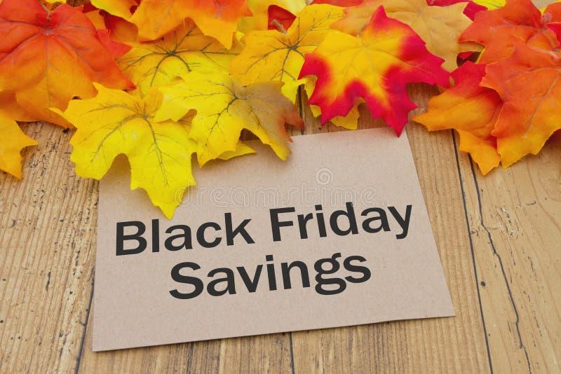 Carte de l'épargne de Black Friday image stock