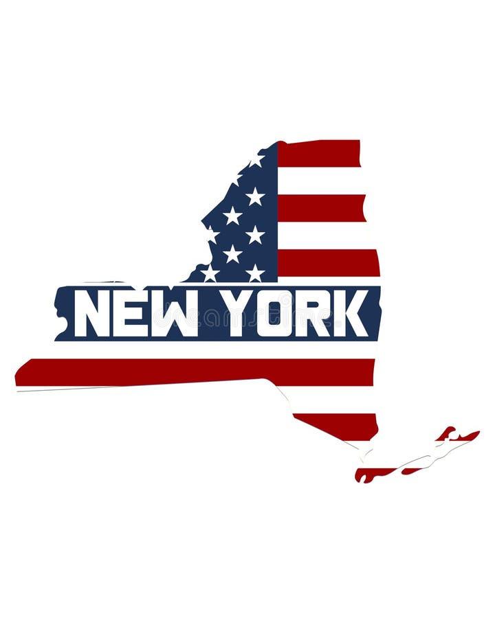 Carte de l'état de New-York photos libres de droits