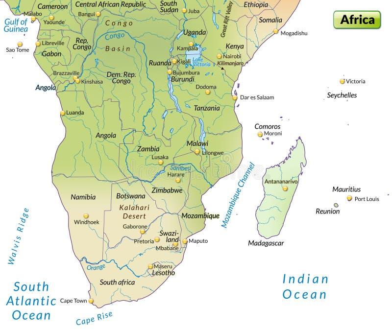 Carte de l'Afrique illustration stock