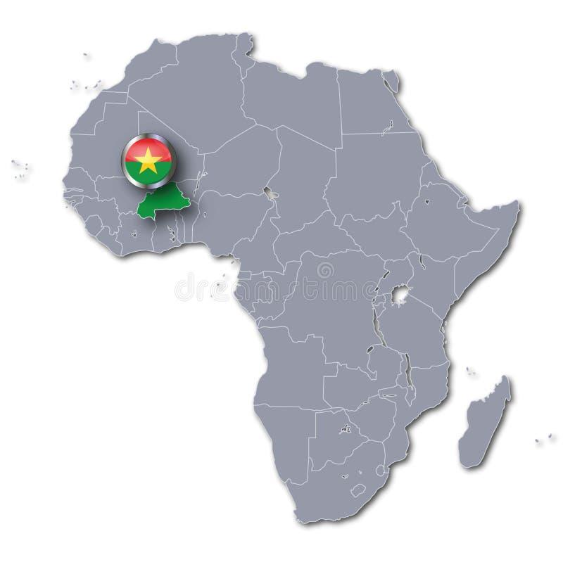 Carte Afrique Burkina Faso.Carte Du Burkina Faso Pays En Afrique De L Ouest