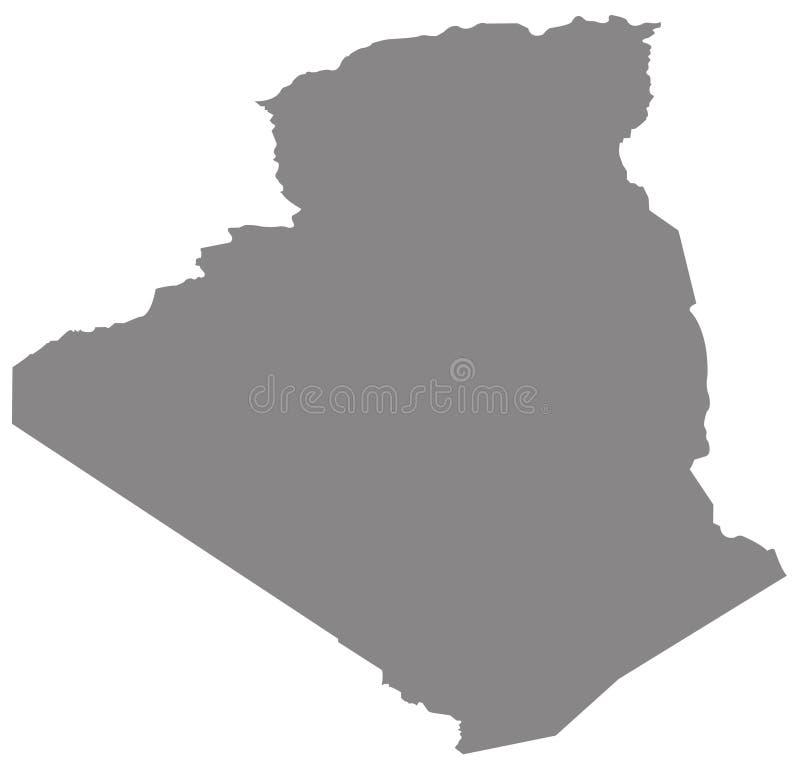Carte de l'Algérie - pays dans le Maghreb illustration libre de droits