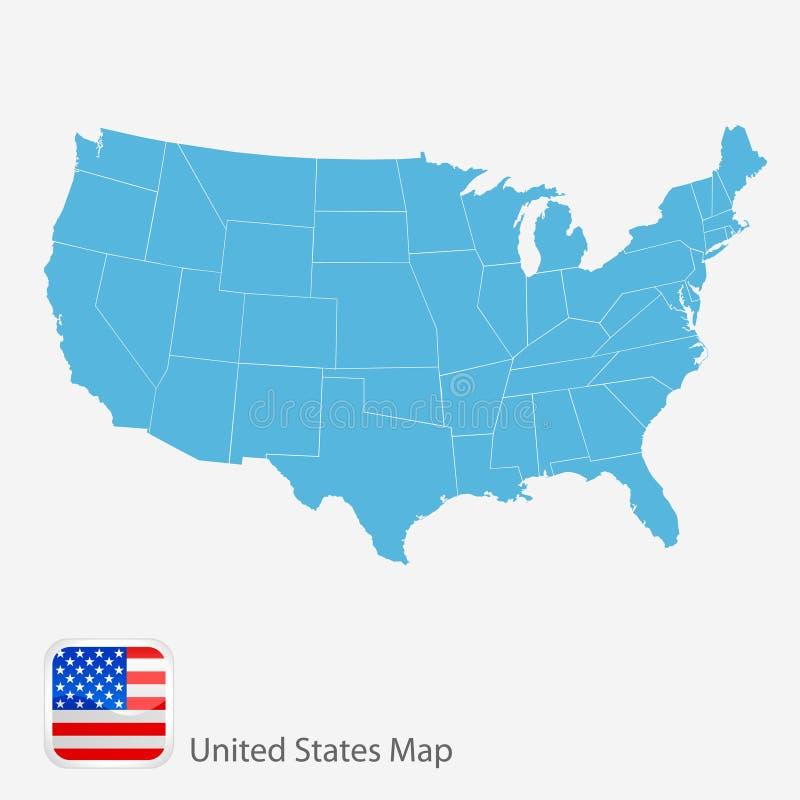 Carte de l'Amérique illustration stock