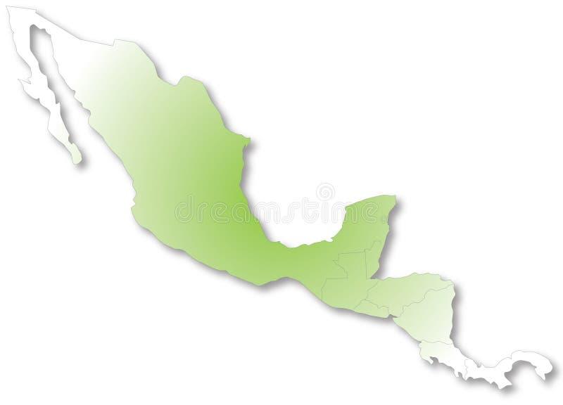 Carte de l'Amérique Centrale illustration libre de droits