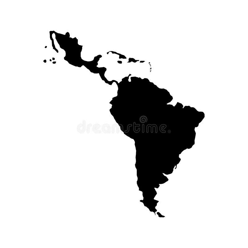 Carte de l'Amérique latine illustration libre de droits