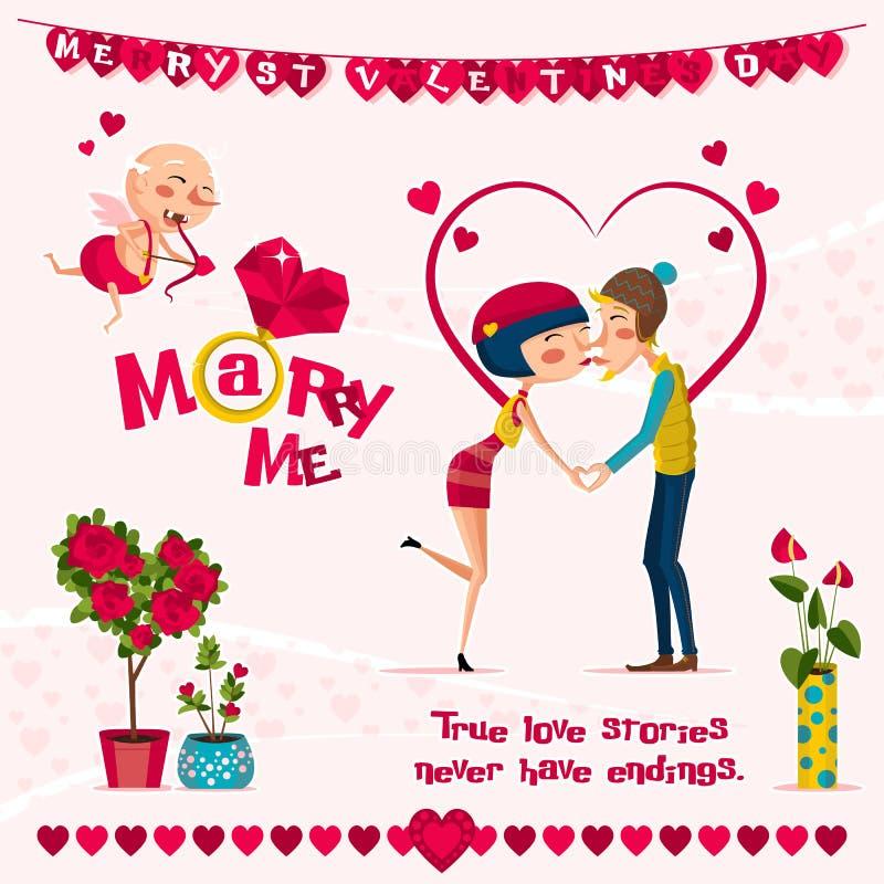 Carte de l'amour Day illustration de vecteur