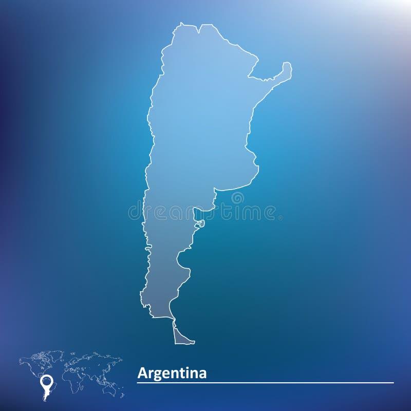 Carte de l'Argentine illustration stock