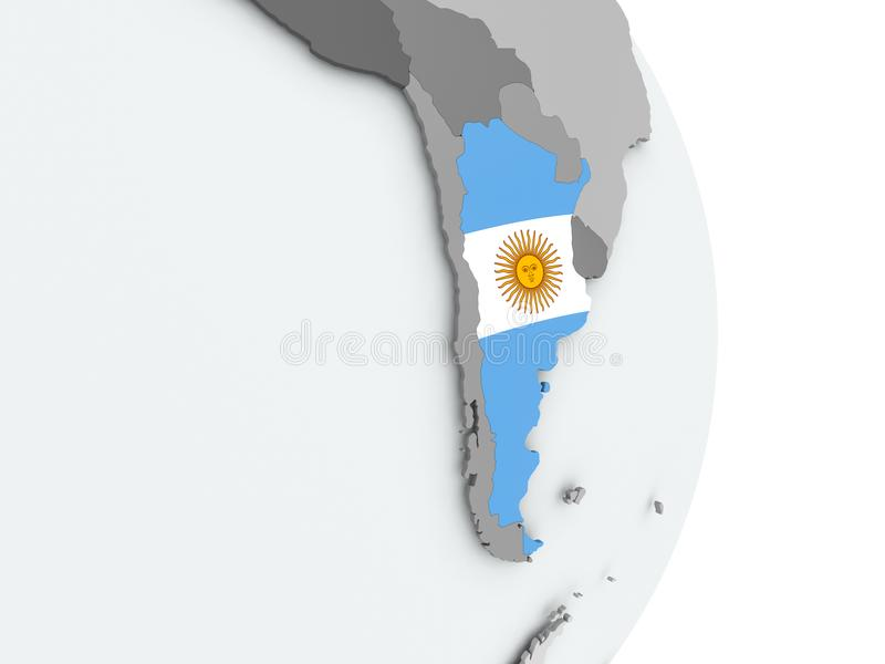 Carte de l'Argentine avec l'indicateur illustration libre de droits