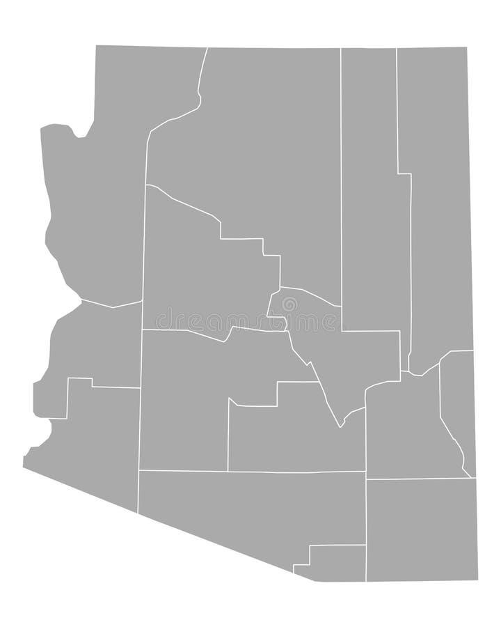 Carte de l'Arizona illustration de vecteur