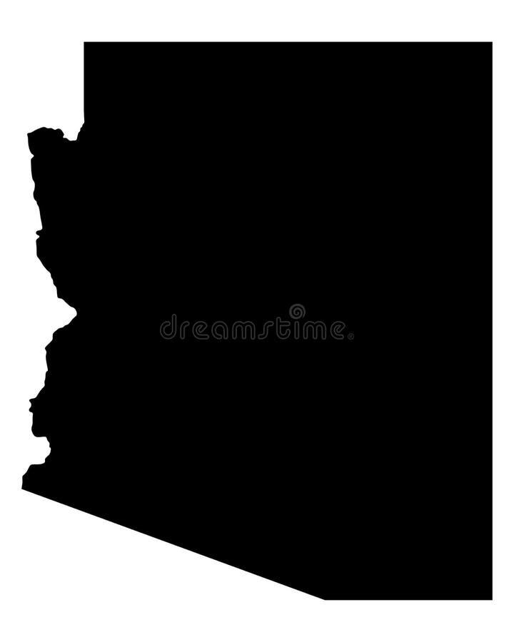 Carte de l'Arizona illustration stock