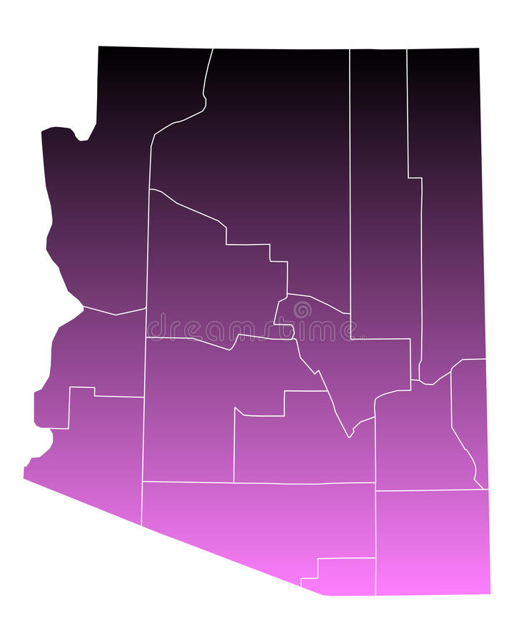 Carte de l'Arizona illustration de vecteur