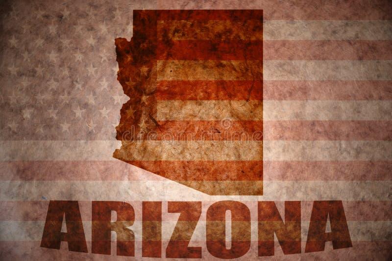 Carte de l'Arizona de vintage photographie stock