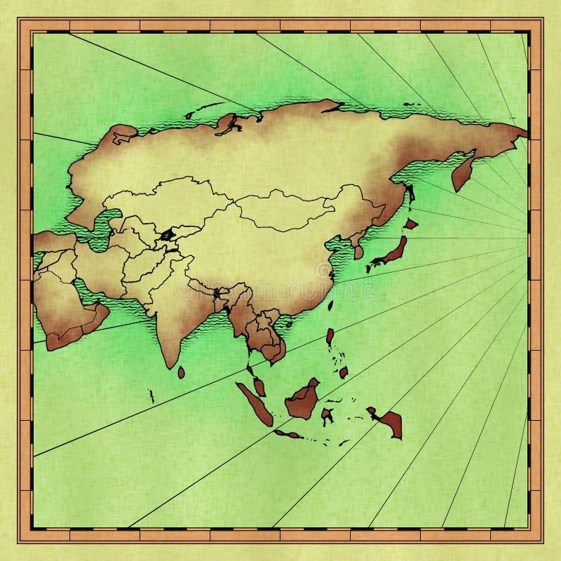 carte de l'Asie illustration de vecteur