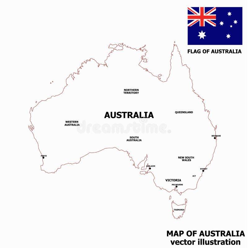 Carte de l'Australie Vecteur illustration libre de droits