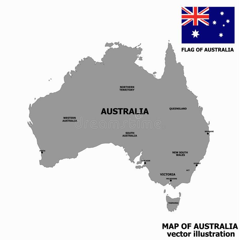 Carte de l'Australie Vecteur illustration stock