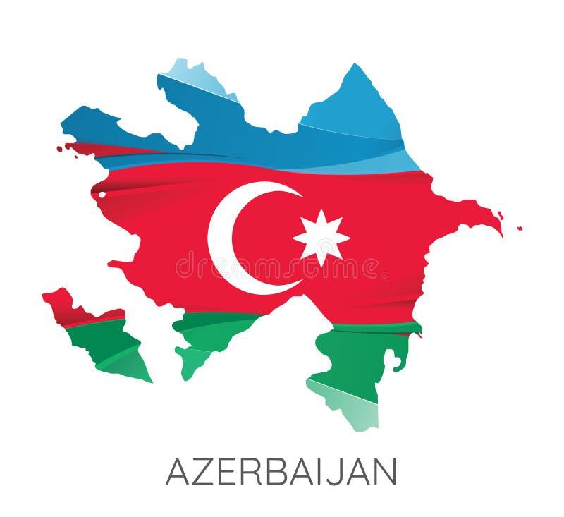 Carte de l'Azerbaïdjan illustration de vecteur