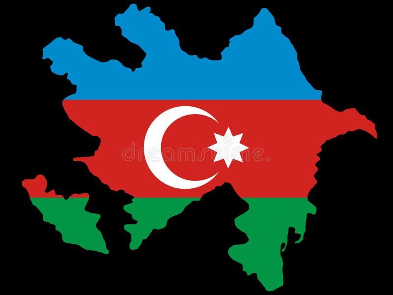 Carte de l'Azerbaïdjan illustration libre de droits