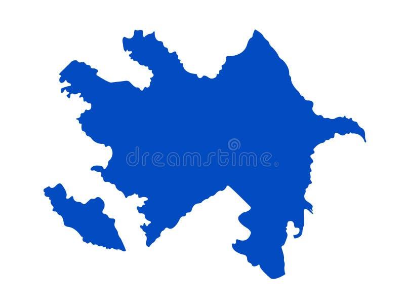 Carte de l'Azerbaïdjan - République de l'Azerbaïdjan illustration stock
