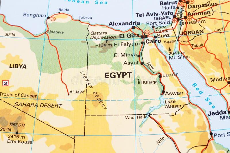 Carte de l'Egypte image stock