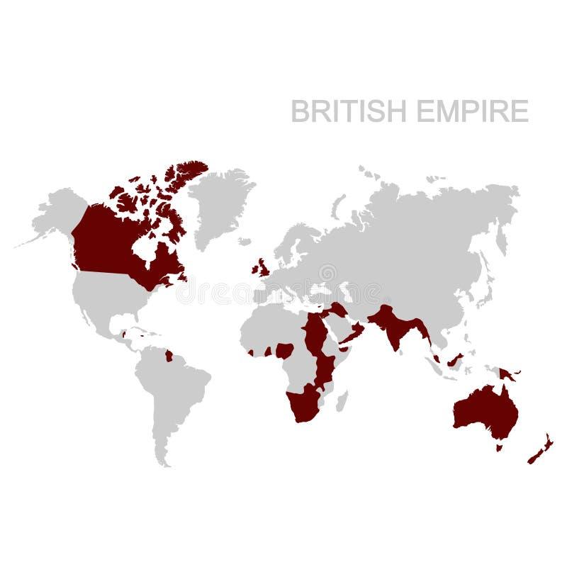 carte de l'Empire Britannique illustration stock