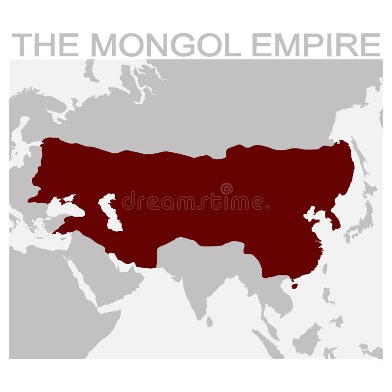 Carte de l'empire mongol illustration libre de droits