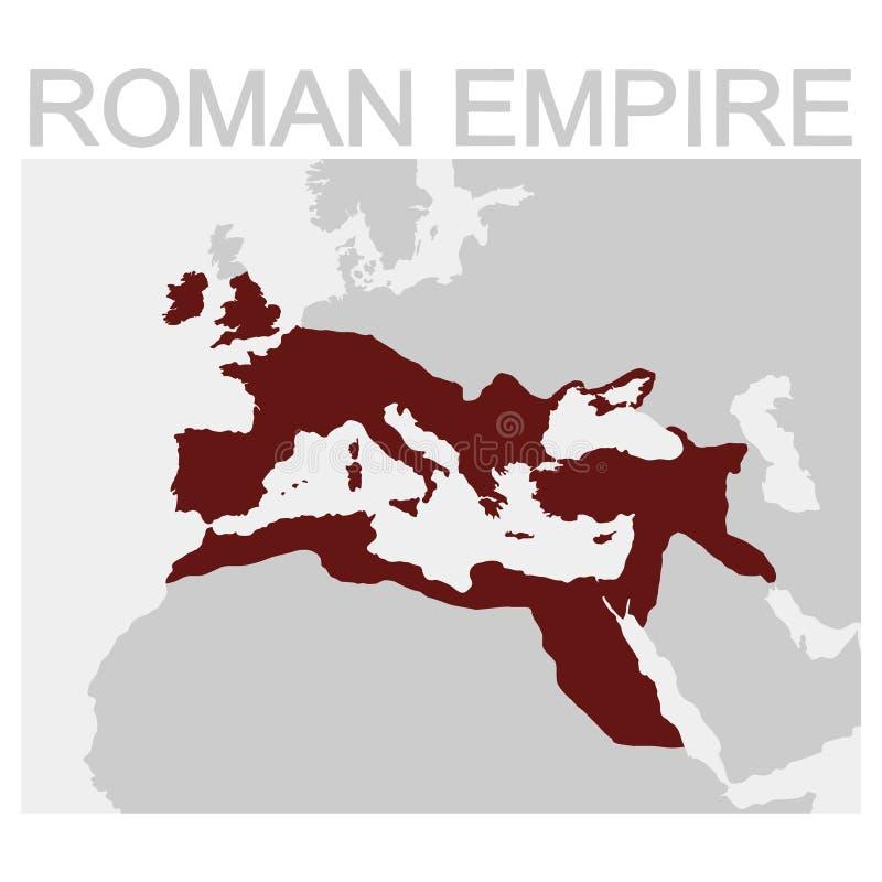 Carte de l'empire romain illustration libre de droits
