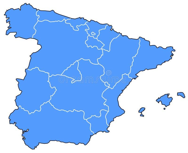 Carte de l'Espagne illustration libre de droits