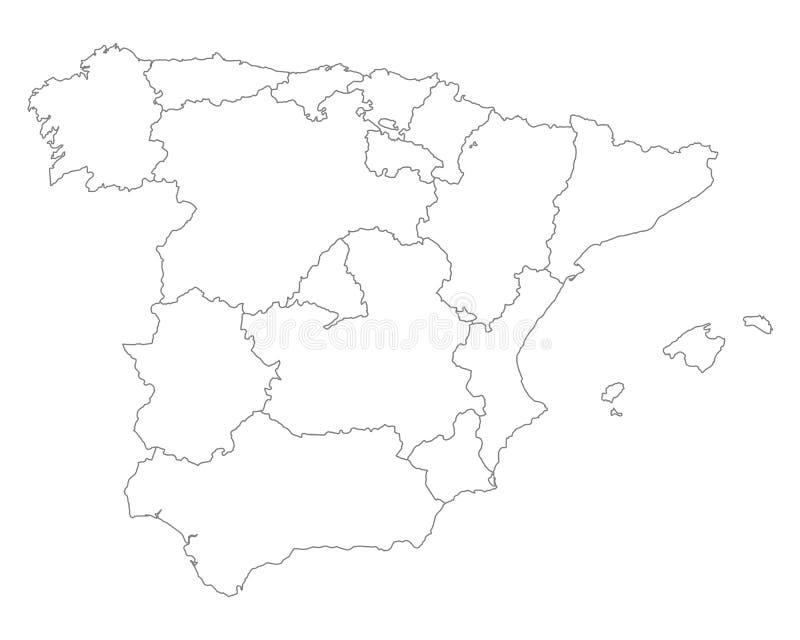 Carte de l'Espagne illustration de vecteur