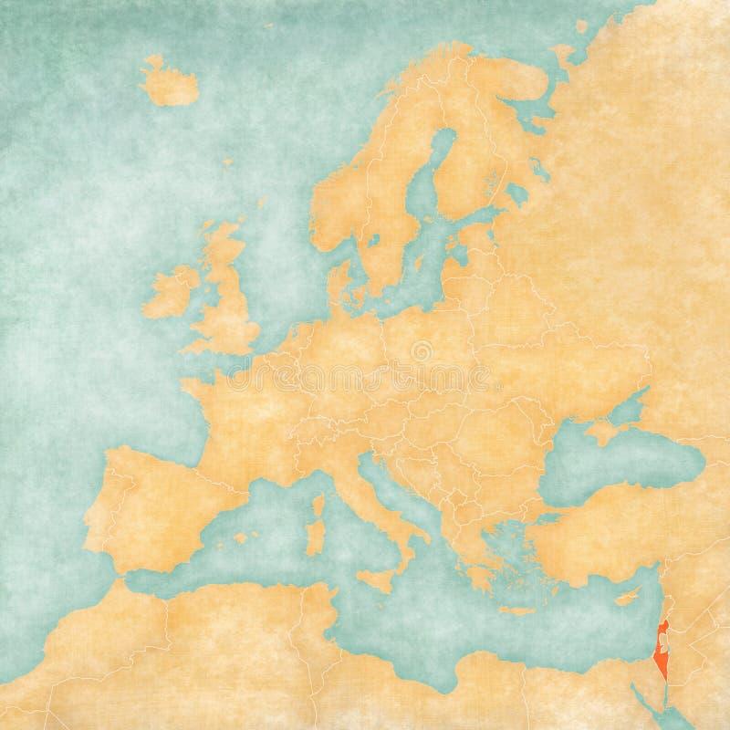 Carte de l'Europe - l'Israël illustration libre de droits