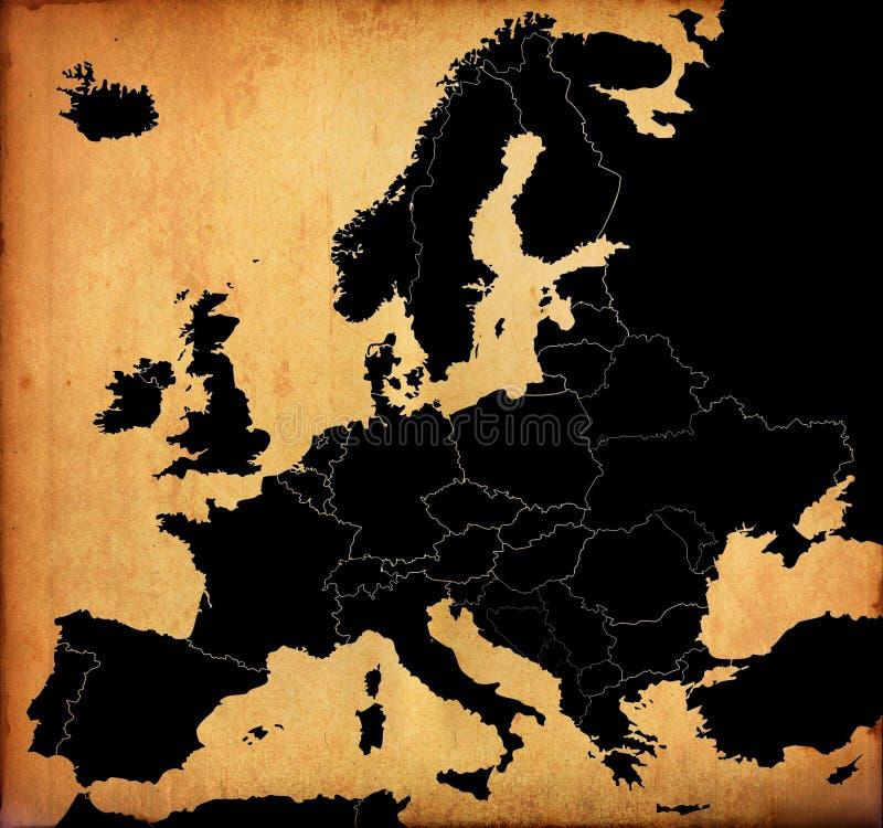 Carte de l'Europe de vintage image stock
