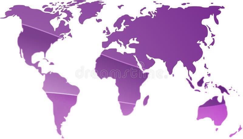 Carte de l'illustration du monde illustration stock