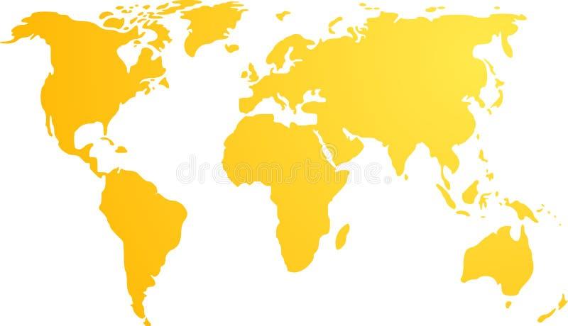 Carte de l'illustration du monde illustration libre de droits