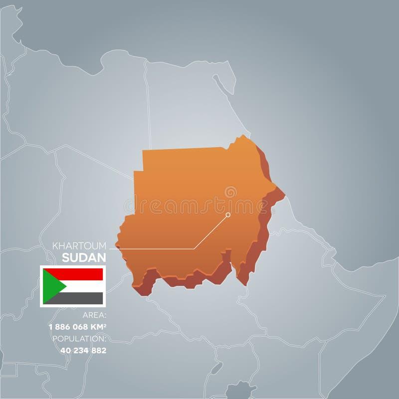 Carte de l'information du Soudan illustration libre de droits