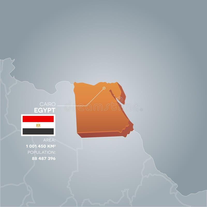 Carte de l'information de l'Egypte illustration stock