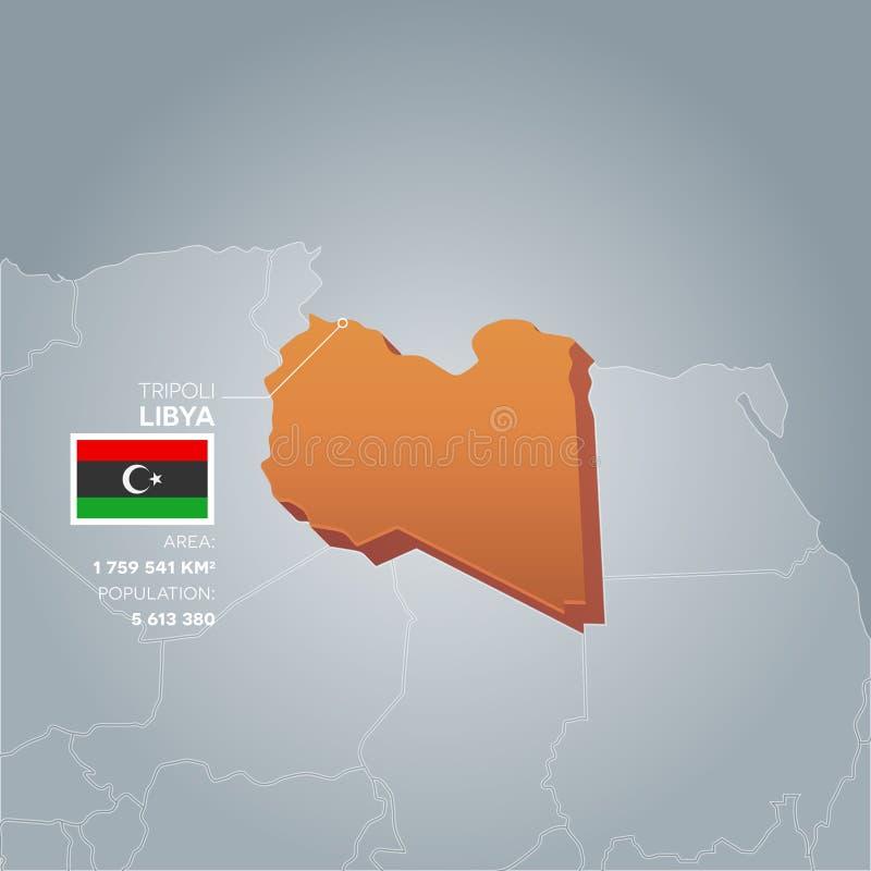 Carte de l'information de la Libye illustration stock