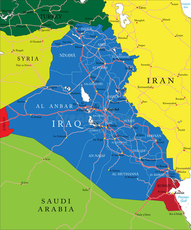 Carte de l'Irak illustration libre de droits