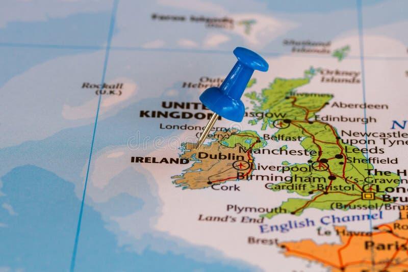 Carte de l'Irlande photo libre de droits