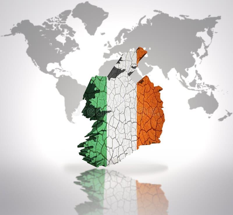 Carte de l'Irlande illustration libre de droits