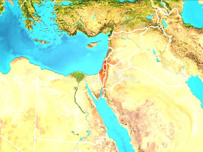 Carte de l'Israël illustration libre de droits