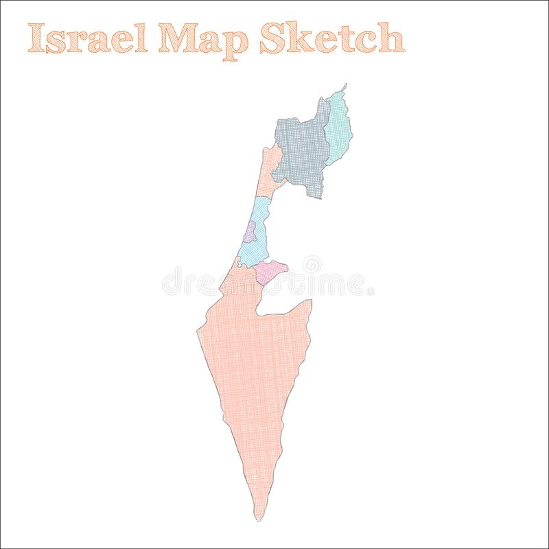 Carte de l'Israël illustration de vecteur