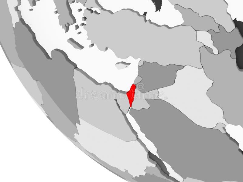 Carte de l'Israël en rouge illustration libre de droits