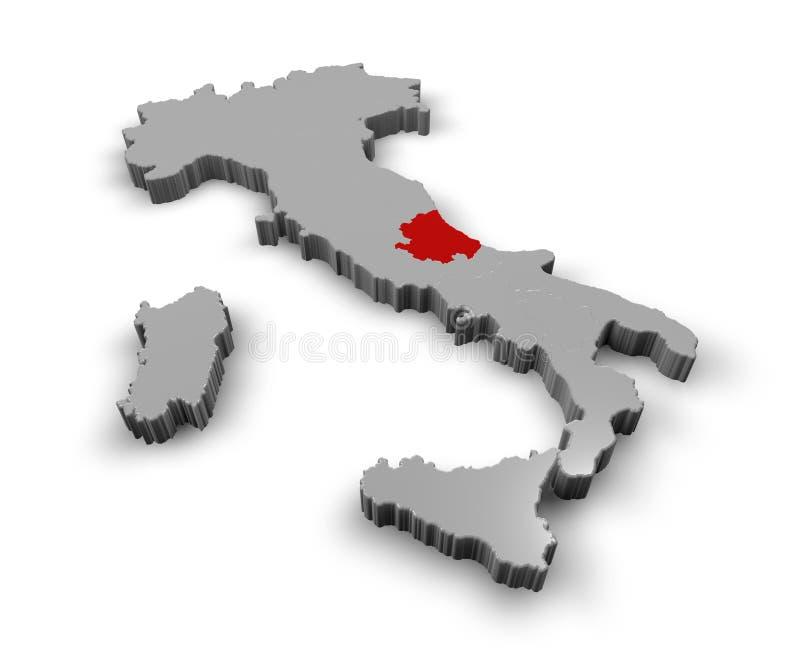 Carte de l'Italie Abruzzo illustration de vecteur
