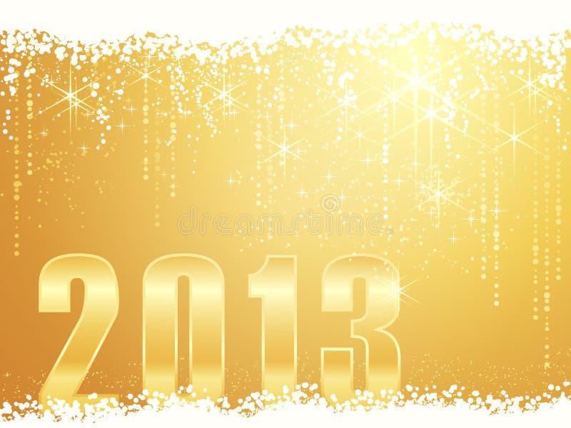 Carte de l'an neuf heureux 2013 illustration de vecteur