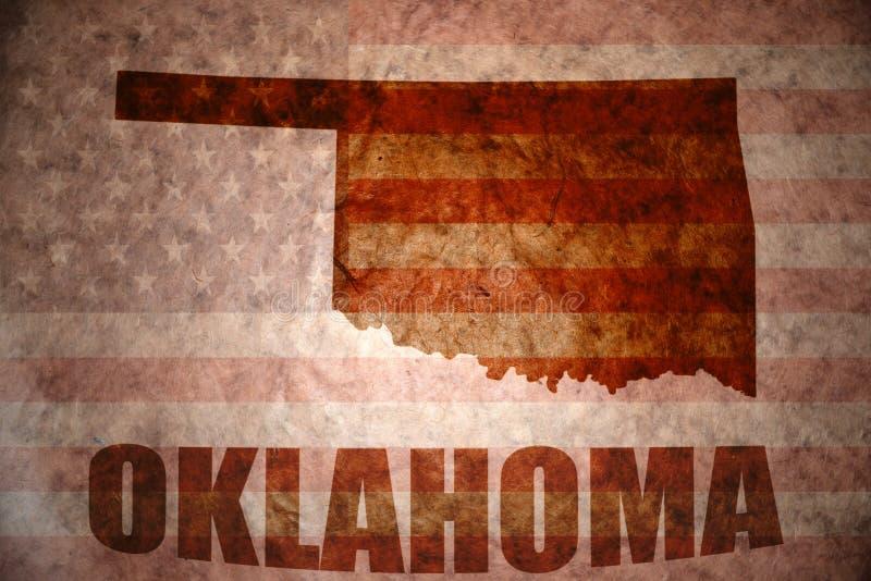 Carte de l'Oklahoma de vintage photographie stock