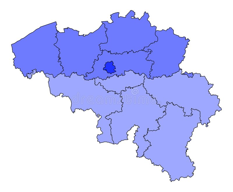 Carte de la Belgique illustration de vecteur