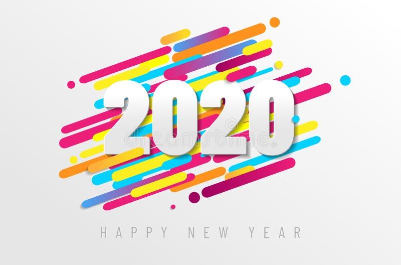 Carte de la bonne année 2020 illustration libre de droits